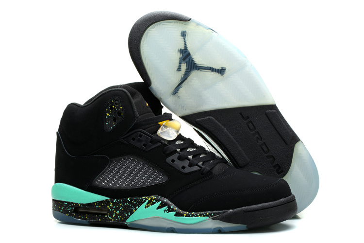 Air Jordan 5 World Cup Black Blue Shoes