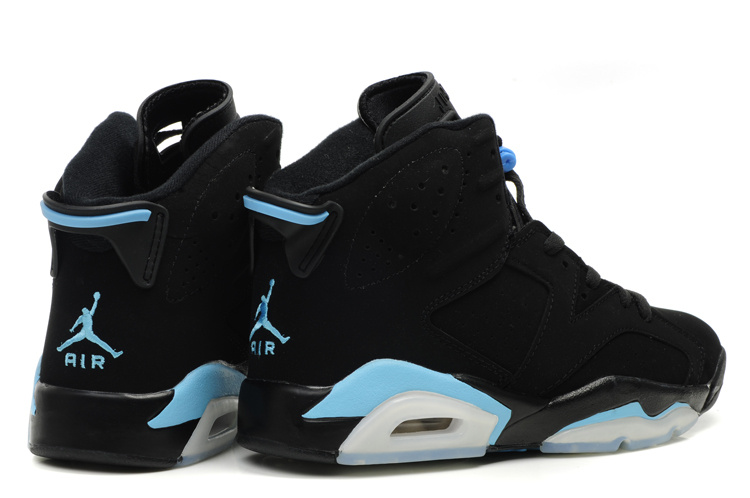 New Air Jordan Retro VI Black White Blue