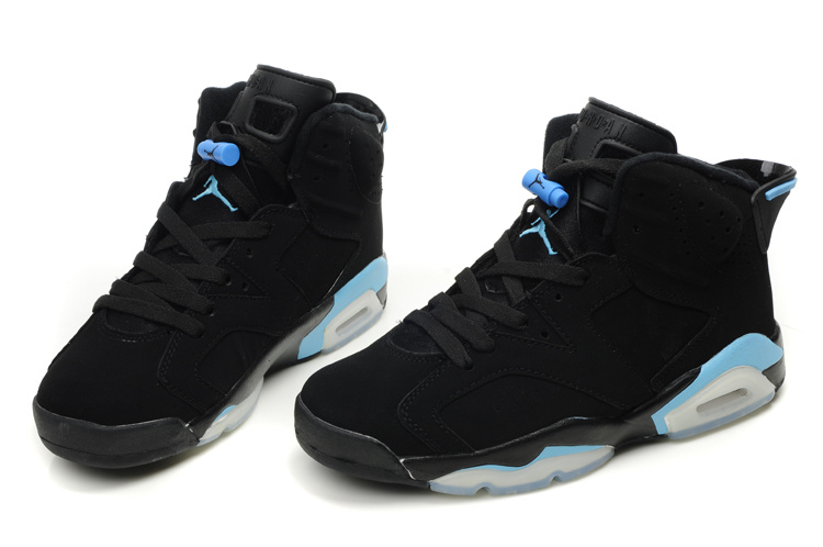 Air Jordan Retro 6 Black White Blue