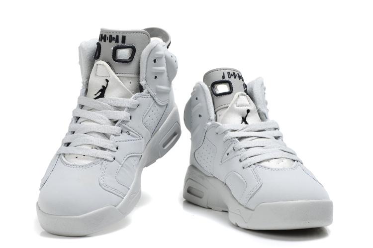all white jordan 6