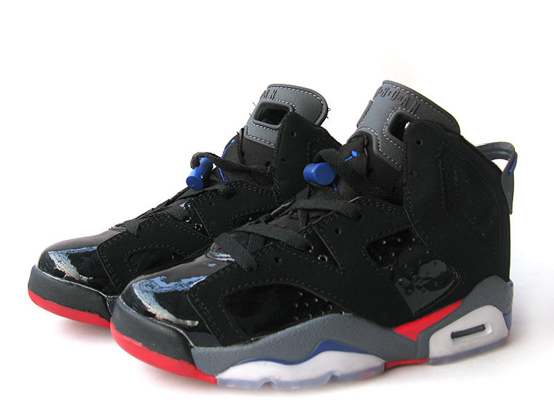 Air Jordan 6 Black Grey Red For Women