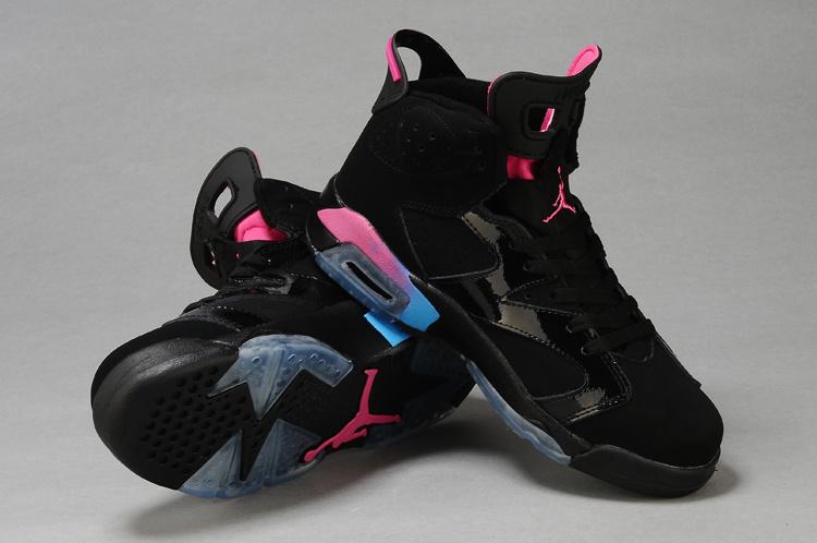 Air Jordan 6 Black Pink For Women
