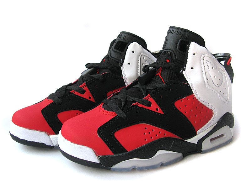 Black And Light Red Jordans Air Jordan 6 Black Red White