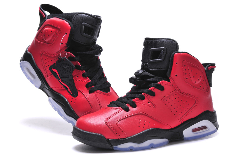 2015 Women Air Jordan 6 Bulls Red Black