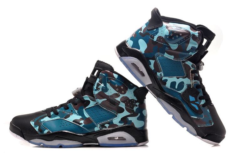 Air Jordan 6 Camouflag Color Shoes