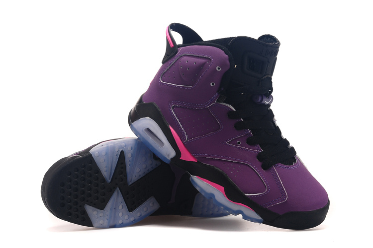 2015 Air Jordan 6 Grape Black Shoes For Women