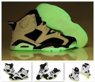 Air Jordan 6 Midnight White Black For Women