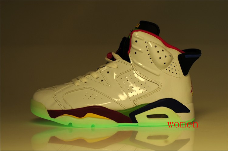 Air Jordan 6 Olympic Midnight White Red Green For Women