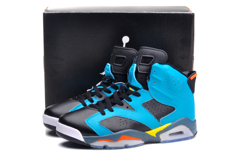 2015 Black Gunfighter Blue Air Jordans 6