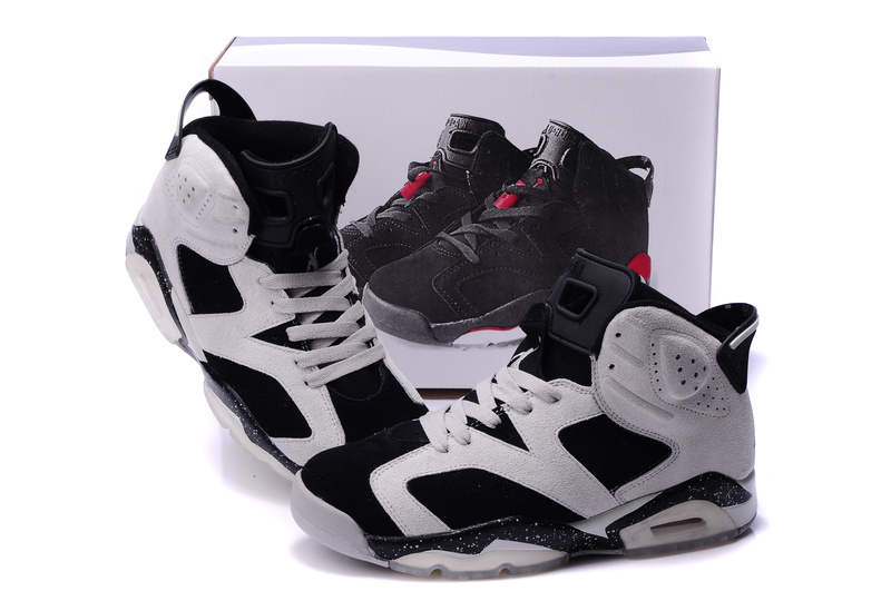 Air Jordan 6 Suede White Black Grey Shoes