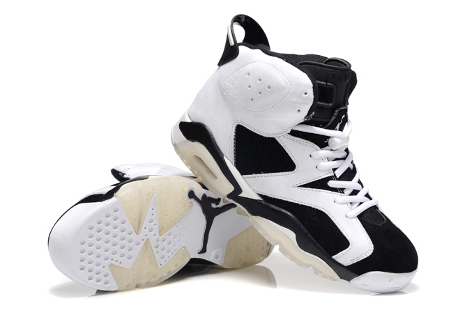 Air Jordan 6 Suede White Black Shoes