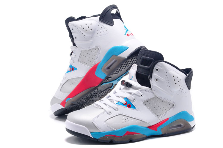 Air Jordan 6 White Blue Grey Angry Bird Shoes