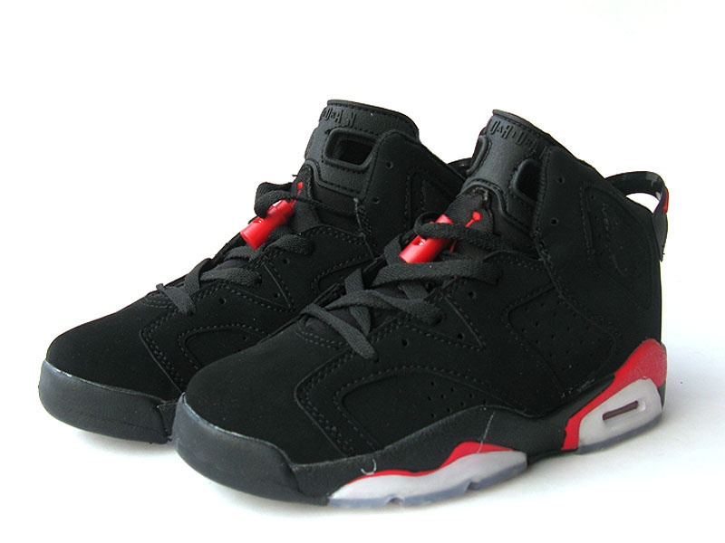 Air Jordan 6 White Dark Black Red White For Women