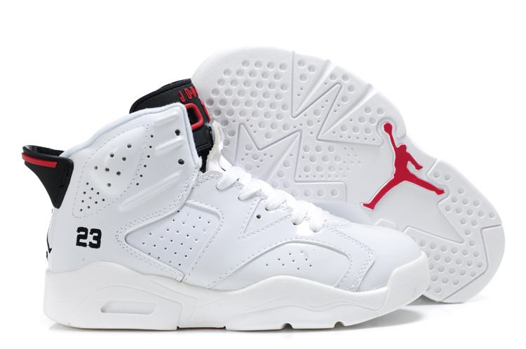 Comfortable Air Jordan 6 White For Kids