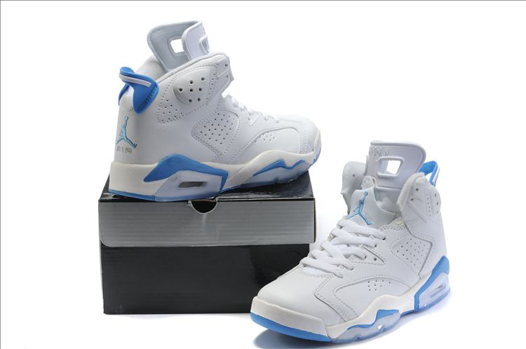 Air Jordan 6 White Light Blue For Women