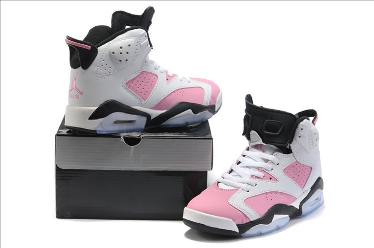 Air Jordan 6 White Pink Black For Women