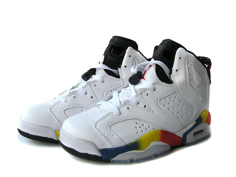 Air Jordan 6 White White Black Colorful For Women