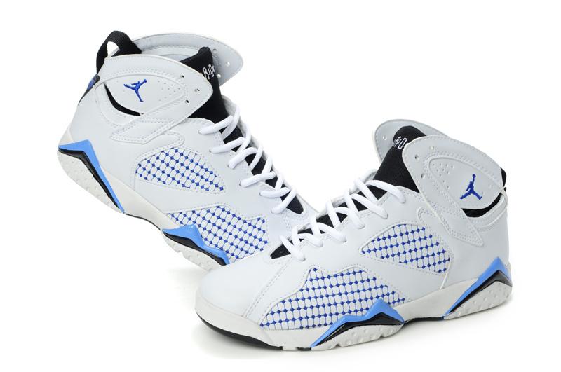 Air Jordan 7 Embroided White Blue For Women