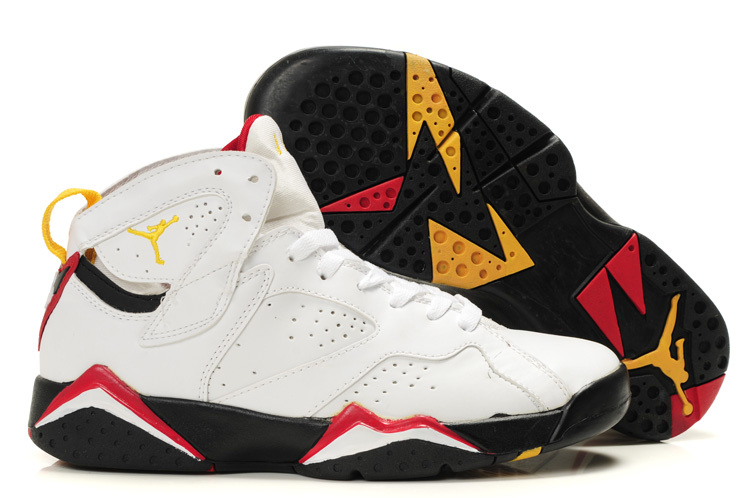 Air Jordan 7 White Black Red For Women