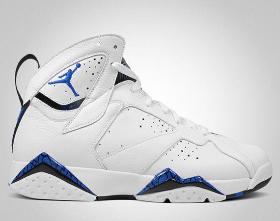 Classic Jordan 7 White Blue