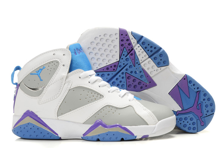 Purple And Grey Air Jordans Air Jordan 7 White Grey Light