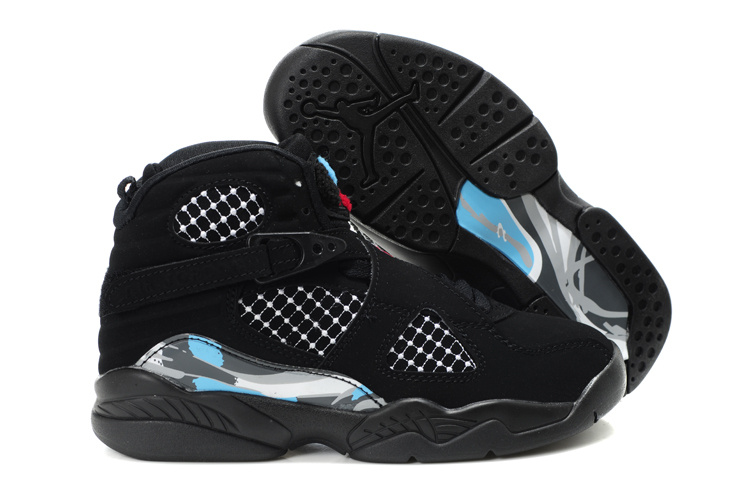 Comfortable Air Jordan 8 Black For Kids