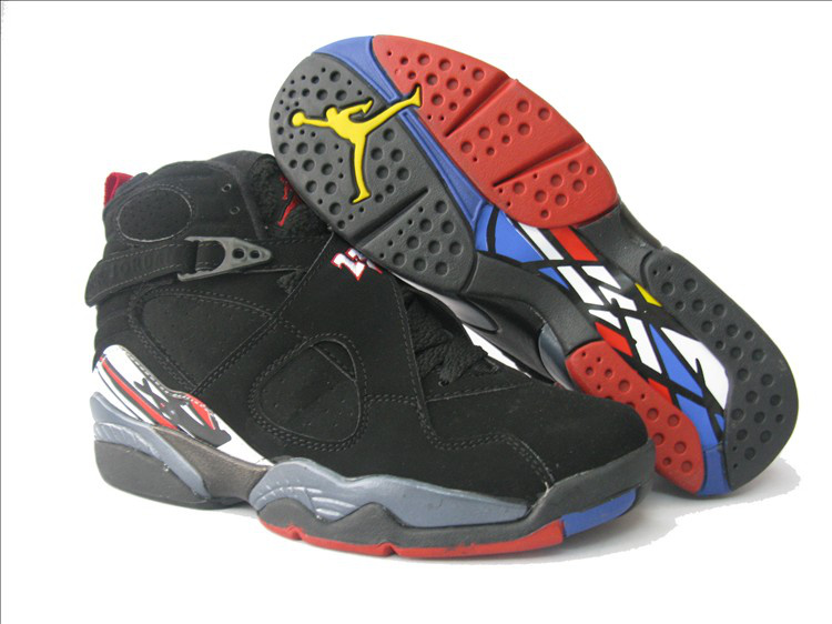 Air Jordan 8 Black Grey Red For Women