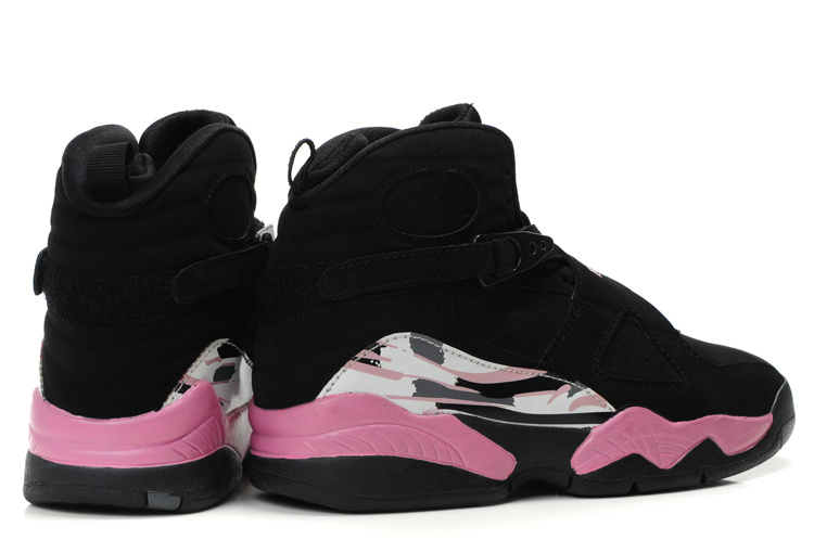 Air Jordan 8 Black Pink White For Women