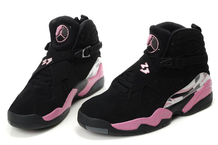 66378d076b3fe8 ... wholesale air jordan 8 black pink white for women c426b bf1db