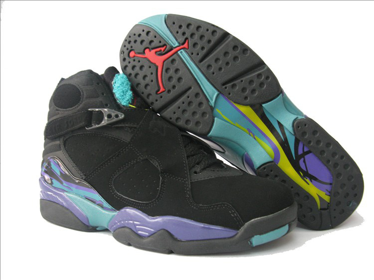Air Jordan 8 Black Purple For Women
