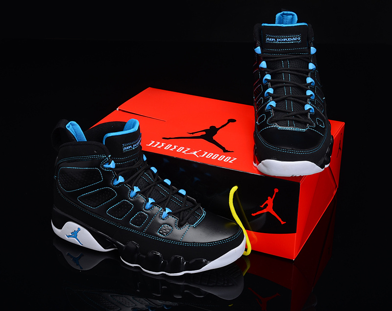 2012 Air Jordan 9 Reissue Black Blue White Shoes