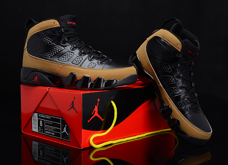 2012 Air Jordan 9 Reissue Black Brown Shoes