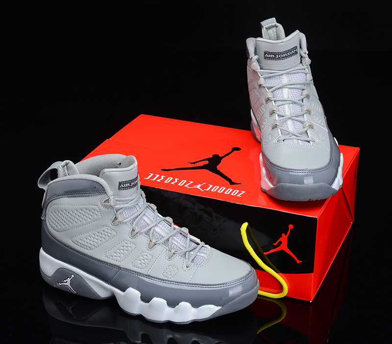 2012 Air Jordan 9 Reissue Grey White Shoes
