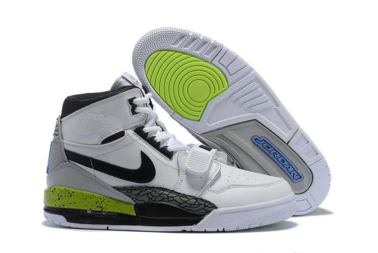 Air Jordan Legacy White Black Green Shoes