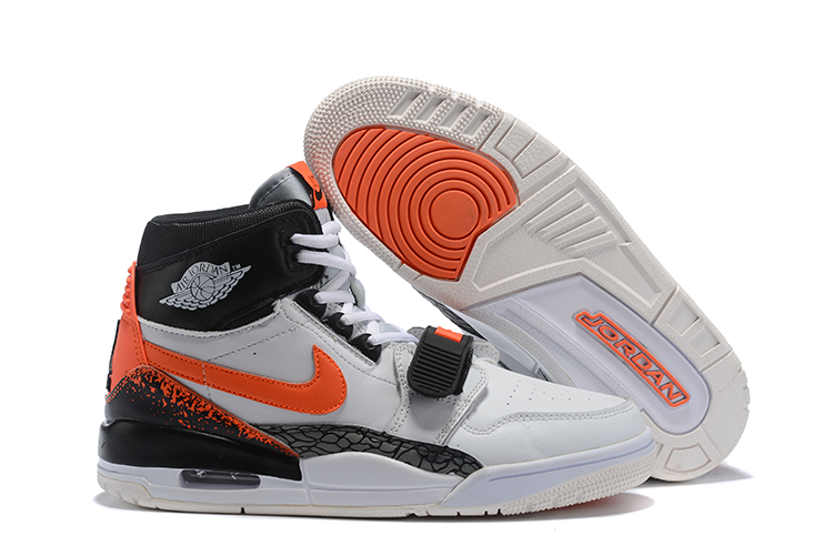Air Jordan Legacy White Orange Black Shoes
