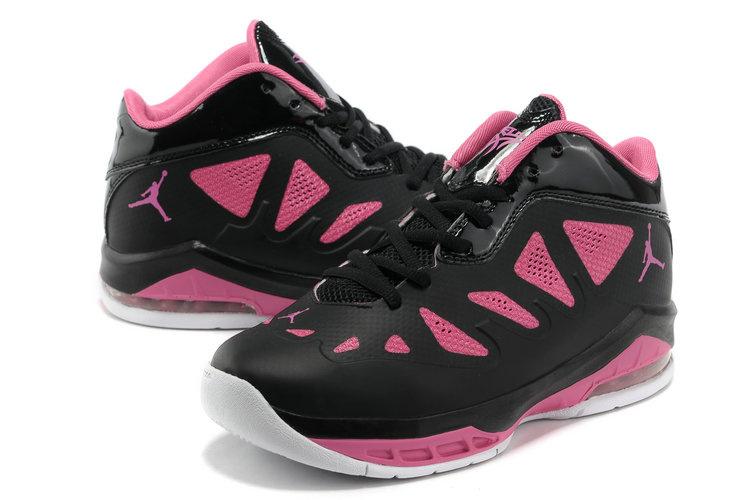 Air Jordan Melo 8 Black Pink White Shoes For Women