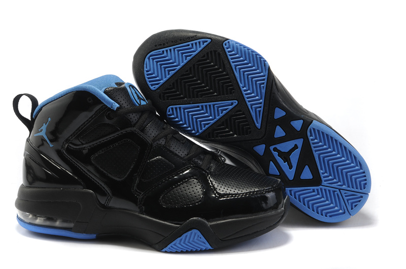 Real Air Jordan Old School II Shoes Black Blue