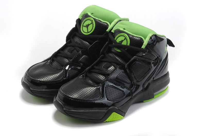 Cheap Air Jordan Old School II Shoes Black Green