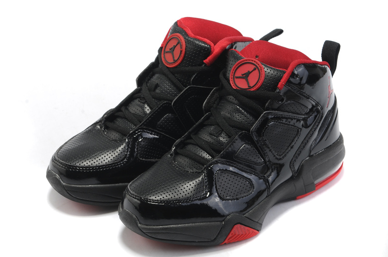 Comfortable Air Jordan Old School II Shoes Black Red