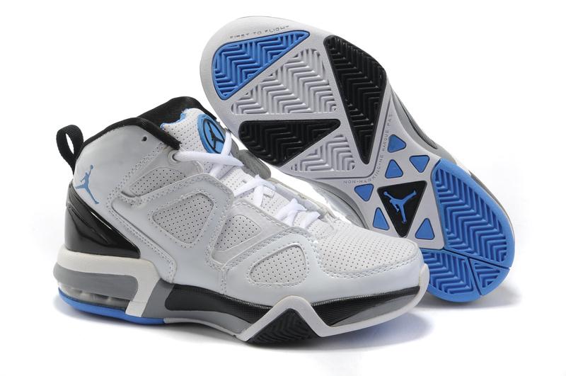 old school air jordans blue white