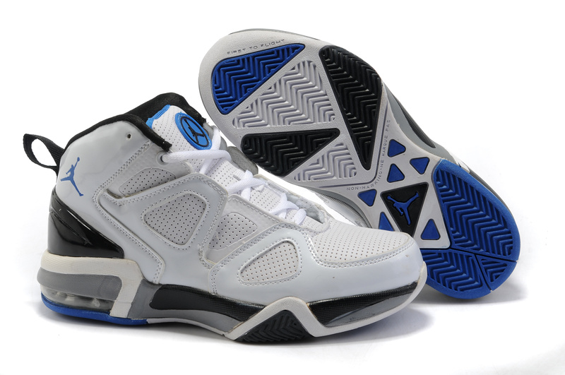 Cheap Real Air Jordan Old School II Shoes White Black Dark Blue