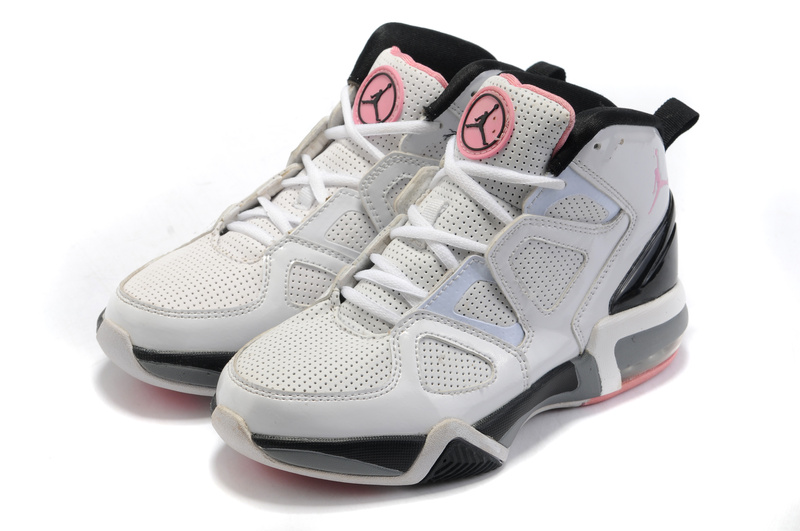 Air Jordan Old School II Shoes White Black Pink