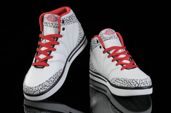 Air Jordan Pro Classic White Red Black Cement For Women