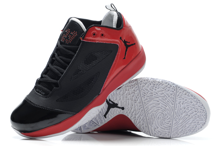Air Jordan Quick Fuse Shoes Black Red