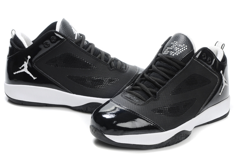 Air Jordan Quick Fuse Shoes Black White Logo