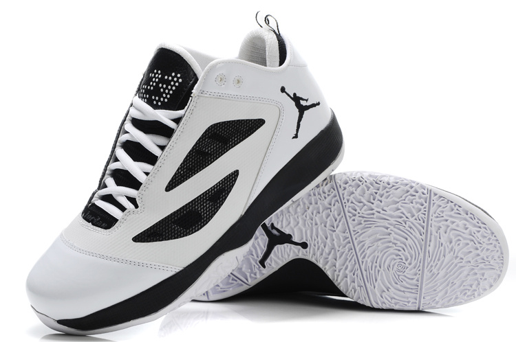 Air Jordan Quick Fuse Shoes White Black Logo
