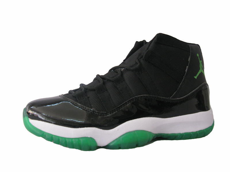 Air Jordan Retro 11 Black White Green Shoes