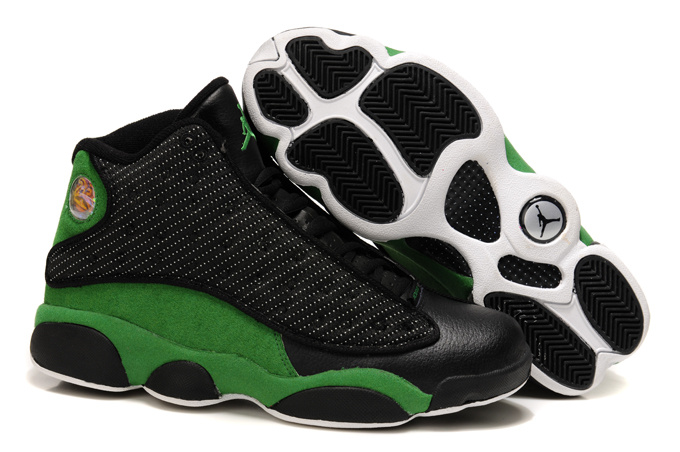 Air Jordan Retro 13 Black Green Shoes