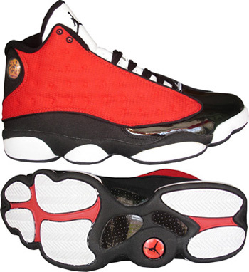 air jordan 13 white black red