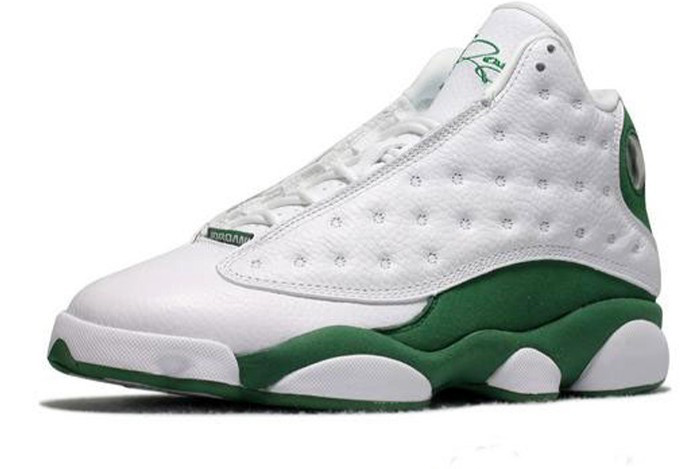 Air Jordan Retro 13 Shoes White Green